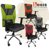 《LOGIS》L鋼加強版電腦椅(灰色)