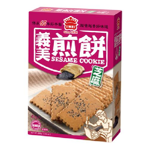 義美 煎餅量販盒-芝麻(231g/盒)