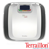 《Terraillon》彩繽紛大鏡面 鋼化玻璃 體重計(白色)