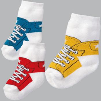 可愛《運動鞋造型》假鞋襪~百搭短襪((3雙組))(12-15CM)