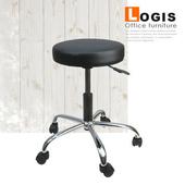 《LOGIS》皮面氣壓升降吧台椅(黑色)