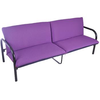《凱堡》Colalin鋼管沙發床(魔力紫)