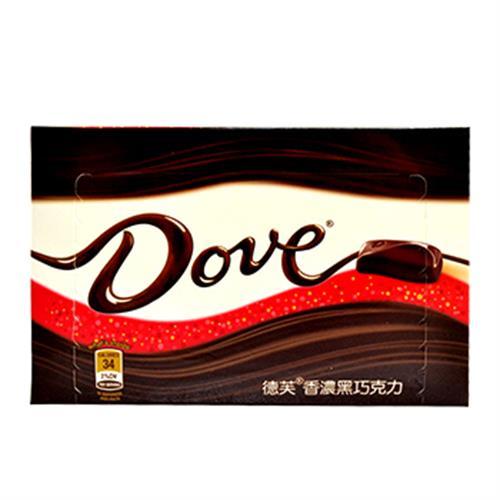Dove 德芙香濃黑巧克力(96公克/盒)