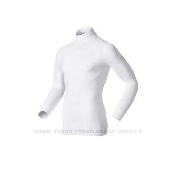 瑞士 ODLO warm effect 男高領專業機能型銀離子保暖衛生衣/152012 贈保暖時尚圍巾(白 X L)