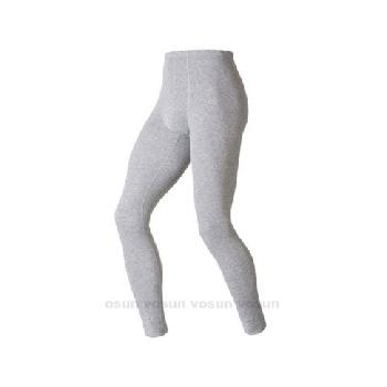 瑞士 ODLO warm effect 男機能型銀離子保暖長褲/152042 贈保暖時尚圍巾(深麻灰 L)