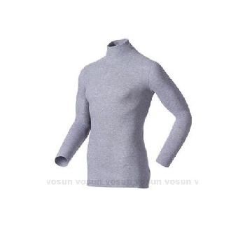 瑞士 ODLO warm effect 男高領專業機能型銀離子保暖衛生衣/152012 贈保暖時尚圍巾(深麻灰 S)