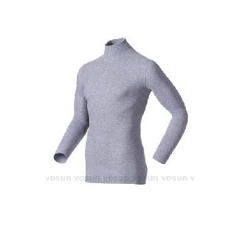 瑞士 ODLO warm effect 男高領專業機能型銀離子保暖衛生衣/152012 贈保暖時尚圍巾(深麻灰 L)