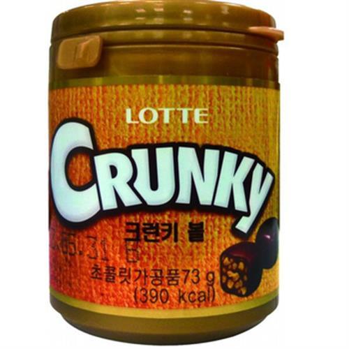 LOTTE 樂天Crunky 巧克力球(73g/瓶)