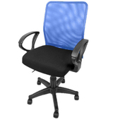 《凱堡》凱爾透氣網背電腦椅(藍色)