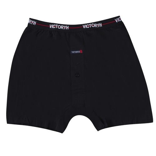 VICTORYH 100%精梳棉針織平口褲 -2388D(灰-L)