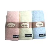 《MORINO》素色緞條童巾3入(28x51cm / MO3092)