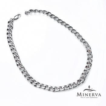 MINERVA 鈦鍺美學 時尚電鍍銀能量項鍊 F007(50cm)
