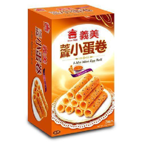 義美 芝麻小蛋卷(114公克/盒)