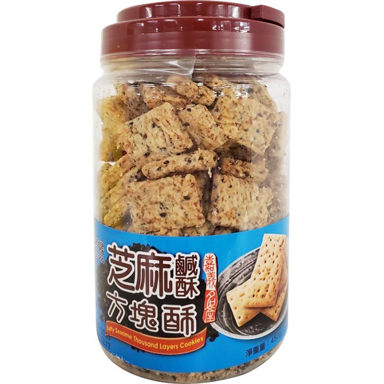 《老楊》芝麻鹹酥方塊酥(450公克/罐)