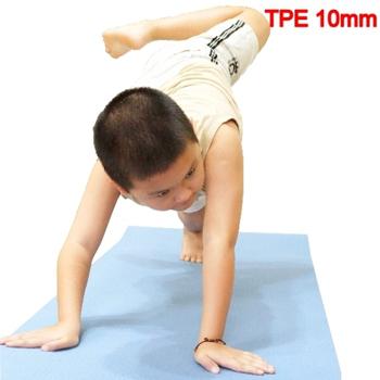 Sport-gym 100% 無毒環保 TPE 雙色瑜珈墊(10mm)