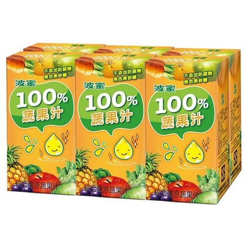 波蜜 100%蔬果汁(160ml*6包/組)