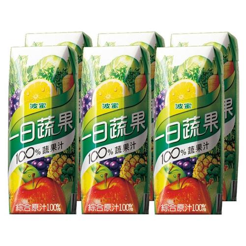 波蜜 一日蔬果100%蔬果汁(250ml*6包/ 組)
