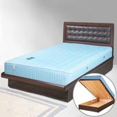 《Homelike》艾凡掀床組-3.5尺單人(胡桃木紋)
