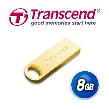Transcend創見 8GB JF520 24K鍍金時尚精品碟 (520 Series)