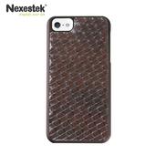 《Nexestek》Nexestek iPhone 5/5S/SE類皮革編織款手機保護殼(咖啡棕色)