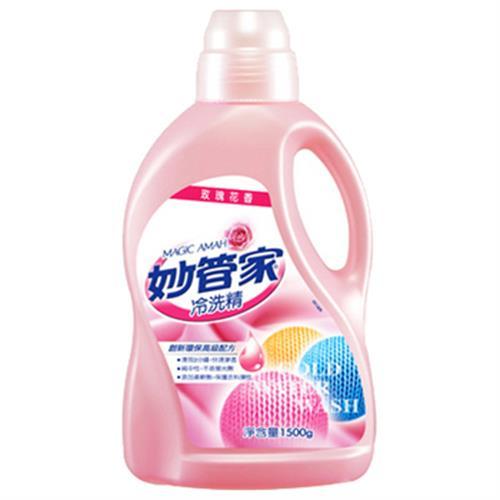 妙管家 玫瑰花香冷洗精(1500g/瓶)