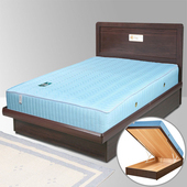 《Homelike》朵拉掀床組+獨立筒床墊-3.5尺單人(胡桃木紋)