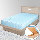《Homelike》朵拉掀床組-3.5尺單人(白橡木紋)