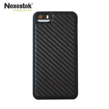 Nexestek iPhone 5 /5S /SE Carbon黑色皮質感手機保護殼(質感黑CARBON)