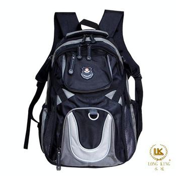★結帳現折★Long King 大容量型20吋時尚休閒電腦背包LK-8725(黑配灰)