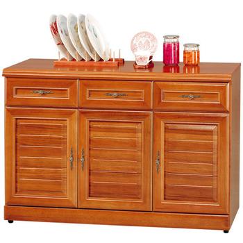 《Homelike》樟木4尺收納餐櫃
