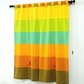 《布安於室》色塊純棉窗簾-繽紛色