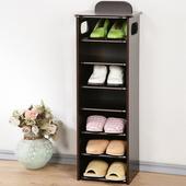 《Homelike》新歐風七層置物鞋櫃(胡桃色)