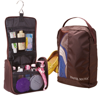 ★結帳現折★旅行玩家 收納鞋袋+盥洗包(紫色)