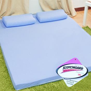 KOTAS 吸濕排汗8cm竹炭記憶床墊-單人3尺(藍色)
