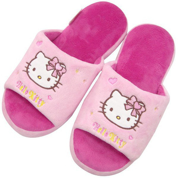 三麗鷗 HELLO KITTY淺粉紅造型室內拖鞋