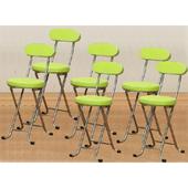 《C&B》新巧易收靠背軟座折合椅(六入)(蘋果綠)