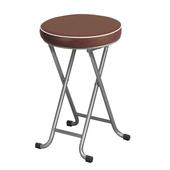 《C&B》新巧易收軟座折合椅凳(四入)(醇咖啡)