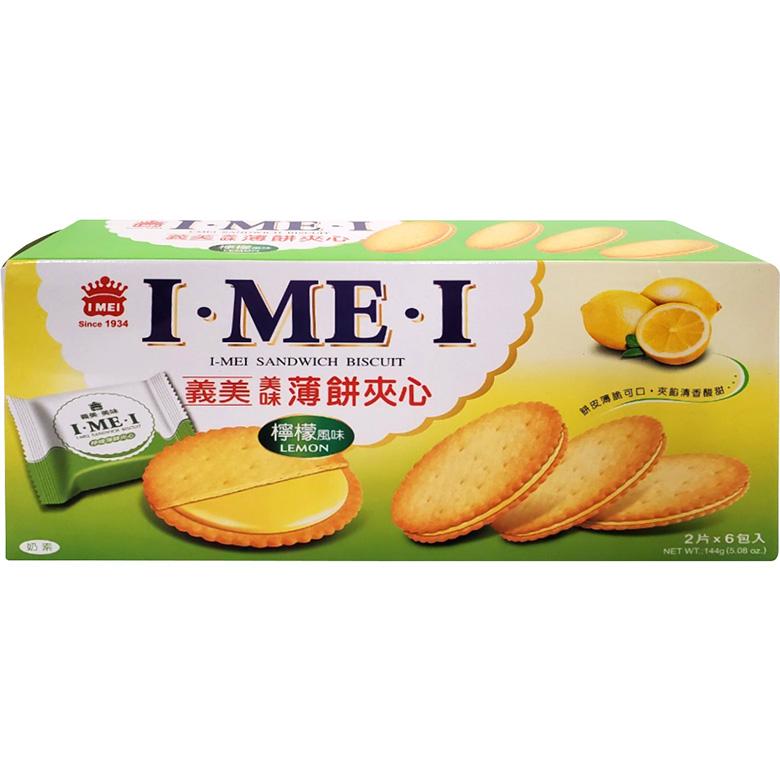 《義美》美味薄餅夾心-檸檬風味(144公克/盒)
