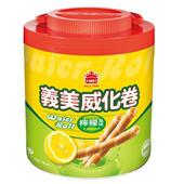 《義美》檸檬威化卷(500公克/桶)
