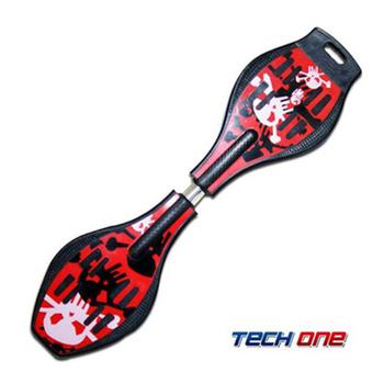 TECHONE S2 ABS入門板 陸上衝浪板 / 蛇板 / 滑板(勁辣紅)