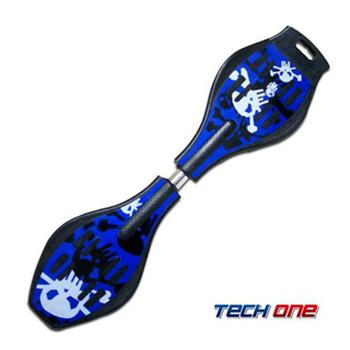 《TECHONE》S2 ABS入門板 陸上衝浪板/蛇板/滑板(經典藍)
