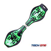 《TECHONE》S2 ABS入門板 陸上衝浪板/蛇板/滑板(蘋果綠)