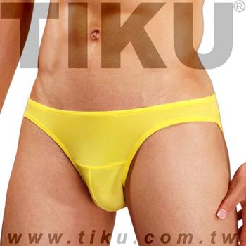 TIKU 梯酷 陽光黃 超彈貼身三角男內褲 (Y2P1692)(L腰圍29-32吋)