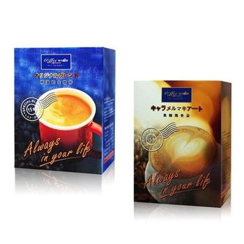 珈的工房 精選三合一綜合咖啡+焦糖瑪奇朵咖啡 (3盒+3盒)