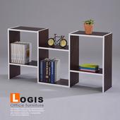 《LOGIS》格格階收納櫃(胡桃色)