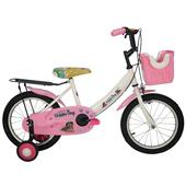 《Adagio》16吋酷樂狗打氣胎童車附置物籃(粉色)