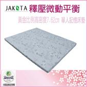 《JAKOTA》釋壓微動平衡單人記憶床墊-7.62cm