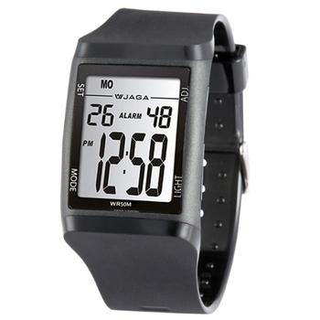 JAGA捷卡 M866多功能防水運動電子錶(黑色)
