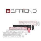 《B-FRiEND》RF1430 無線鍵盤+滑鼠組(黑色)
