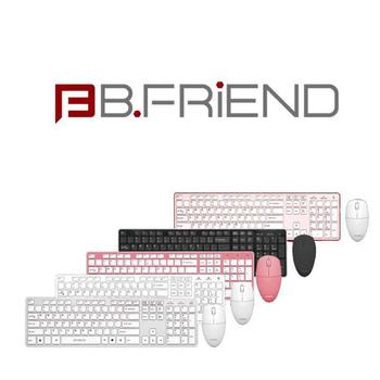 B-FRiEND RF1430 無線鍵盤+滑鼠組(粉色)